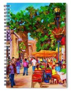 Summer Cafes Spiral Notebook