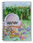 Summer Concert In The Park Spiral Notebook