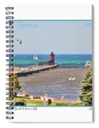 Summer Day At South Haven Mi Spiral Notebook