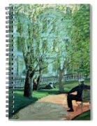 Summer Day Boston Public Garden Spiral Notebook