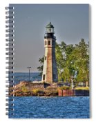 Summer Day View Of The Lighthouse  Spiral Notebook