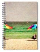 Summer Days At The Beach Spiral Notebook