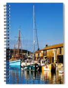 Summer Evening At The Harbour Spiral Notebook