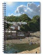 Summer Evening Clovelly North Devon Spiral Notebook