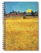 Summer Evening Wheat Field At Sunset Spiral Notebook