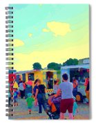 Summer Family Fun Paintings Of Food Truck Art Roadside Eateries Dad Mom And Little Boy Cspandau Spiral Notebook