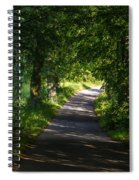 Summer Forest Road Spiral Notebook