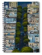 Summer Green On Lombard Street Spiral Notebook