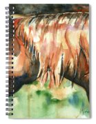 Horse Painting In Watercolor Summer Horse Spiral Notebook