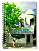 Summer In Psc Pizza At Connie's Pizzaria And Hamburgers City Scene Sud Ouest Montreal Carole Spandau Spiral Notebook