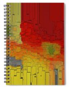 Summer In The Big City - Fantasy Cityscape Spiral Notebook