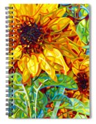 Summer In The Garden Spiral Notebook
