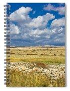 Summer Landscape Of Pag Island Spiral Notebook