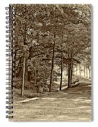 Summer Lane Sepia Spiral Notebook