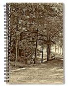 Summer Lane Sepia Spiral Notebook