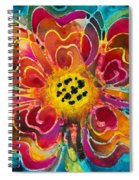 Colorful Flower Art - Summer Love By Sharon Cummings Spiral Notebook