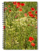 Summer Meadow Background Spiral Notebook
