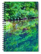 Summer Monet Reflections Spiral Notebook