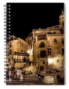 Summer Night In Albarracin Spain Spiral Notebook