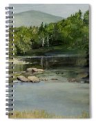Summer On The River In Vermont Spiral Notebook