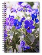 Summer Pansies Spiral Notebook