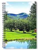 Summer Pond And The Blueridge Spiral Notebook