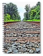 Summer Railroad Tracks Spiral Notebook