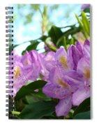 Summer Rhodies Flowers Purple Floral Art Prints Spiral Notebook