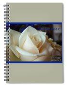 Summer Rose Sapphire Border Spiral Notebook