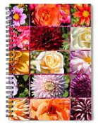 Summer Roses And Dahlias 2013 Spiral Notebook