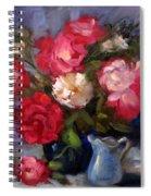 Summer Roses Spiral Notebook
