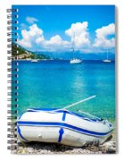 Summer Sailing In The Med Spiral Notebook