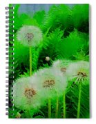 Summer Scenery In Green Spiral Notebook
