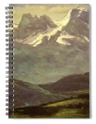Summer Snow On The Peaks Or Snow Capped Mountains Spiral Notebook