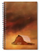 Summer Storm At The Barn Spiral Notebook