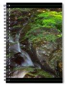Summer Stream Waterfall Spiral Notebook