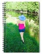 Summer Stroll In The Park - Art By Sharon Cummings Spiral Notebook
