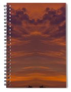 Summer Sunrise Over Jackson Michigan Mirror Image Spiral Notebook
