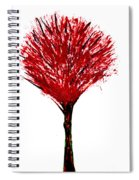 Summer Tree Painting Isolated Spiral Notebook