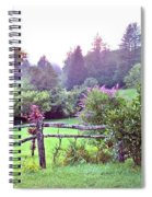 Summer Valley Fence Spiral Notebook