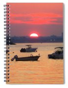 Late Summer Sunset Over The Bay Spiral Notebook
