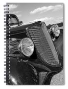 Summertime Blues In Black And White - Ford Coupe Hot Rod Spiral Notebook