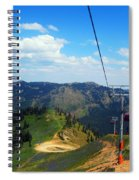 Summertime Chairlift Ride Spiral Notebook