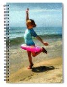 Summertime Girl Spiral Notebook