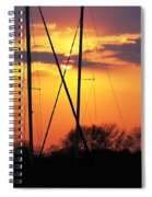 Sun And Masts Spiral Notebook