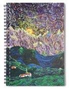 Sun And Moon Night Spiral Notebook