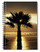 Sun And Palm And Sea Spiral Notebook