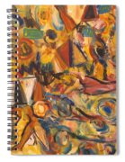 Sun- Bathing Among Yellow  Roses Spiral Notebook