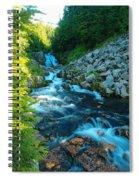 Sun Beam Falls Spiral Notebook