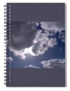 Sun Behind The Clouds Spiral Notebook